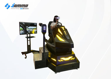 3 Dof Electronic System 9D VR Car Simulator for Shopping Mall اللون الأسود